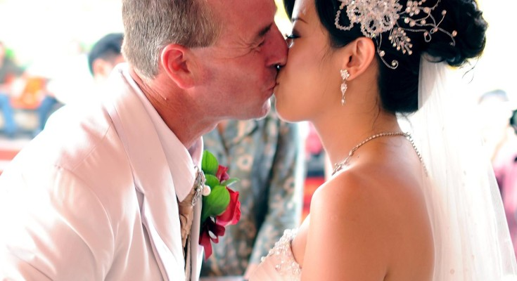 Andrew and Imelda at their wedding ceremony on Bali