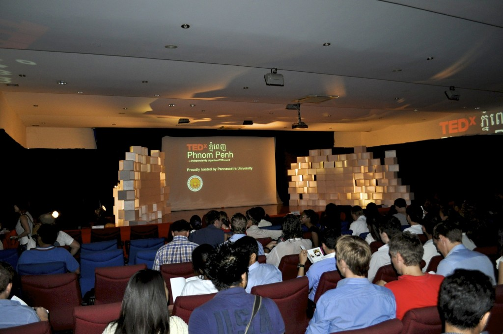 The crowd at Tedx in Phnom Penh, By: Gabrielle Yetter