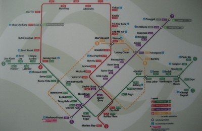 Singapore MRT map, By: Edward