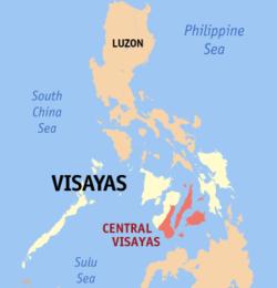 Visayas map