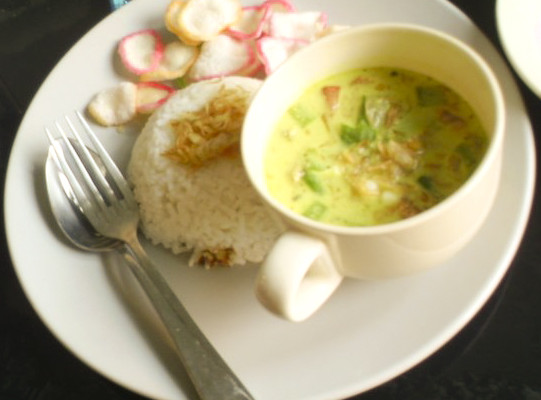 Hot and fragrant Soto Betawi