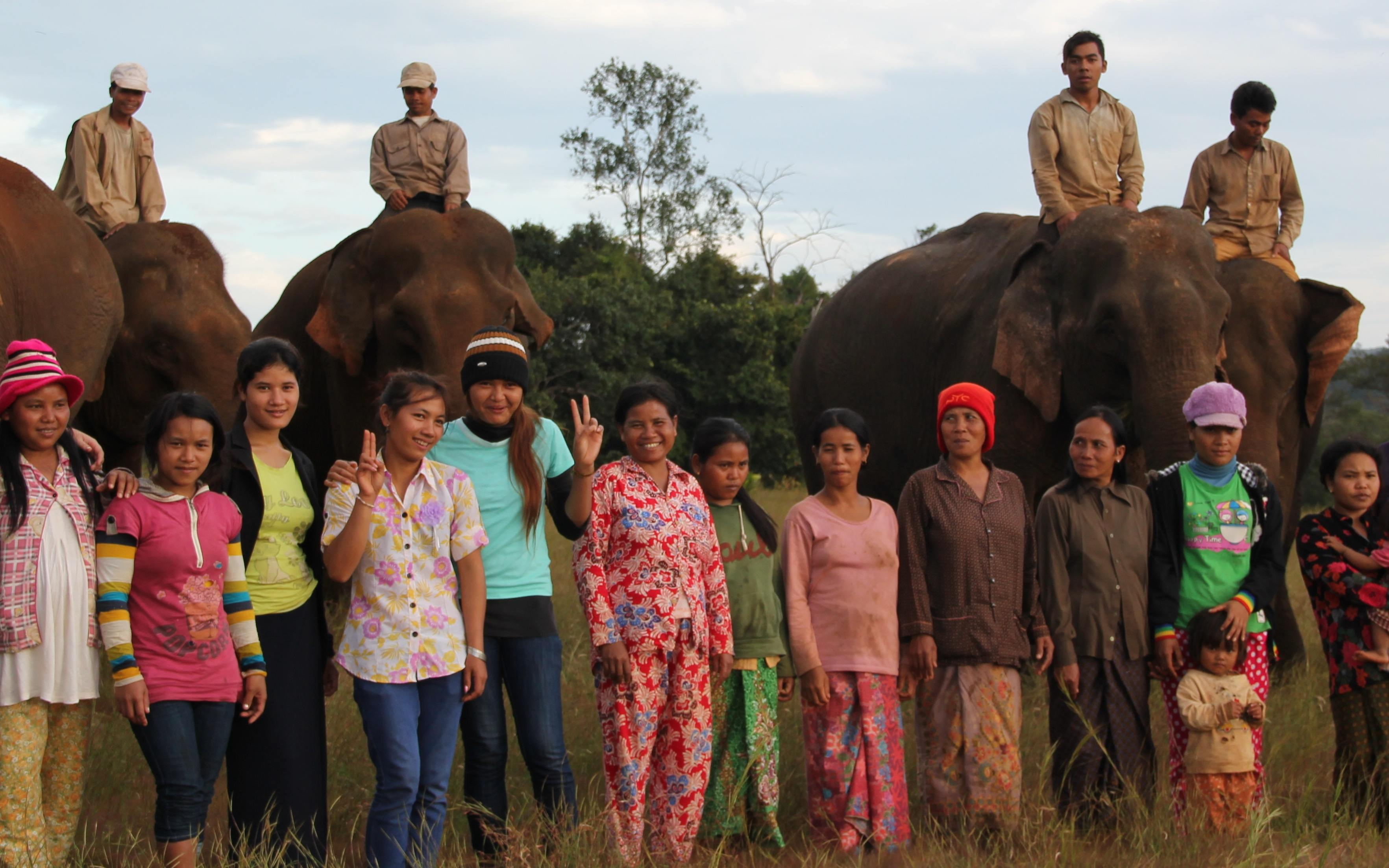 The local Bunong staff and elephants await you at Elephant Valley Project Mondulkiri Cambodia