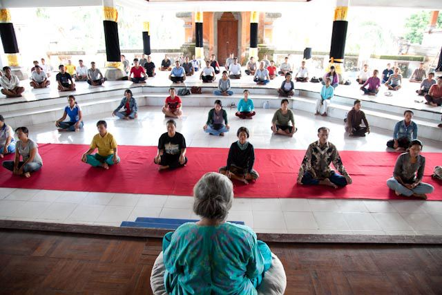 Meditation plays a big role in Balinese culture