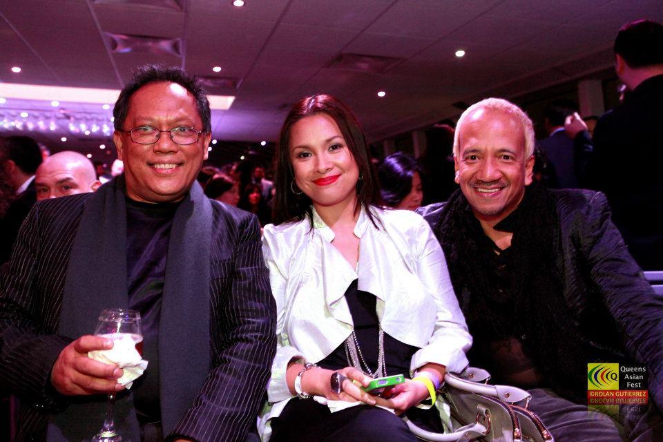 Miguel poses with the original Ms. Saigon Lea Salonga and friend
