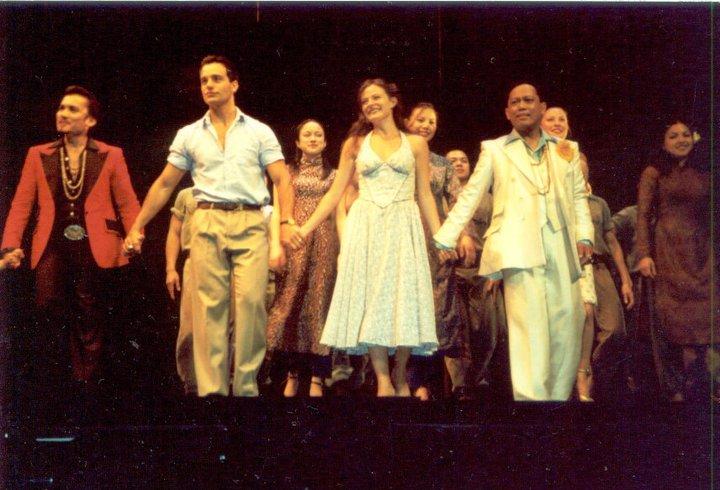 Miguel with the Ms. Saigon Cast, courtesy of Miguel Braganza II