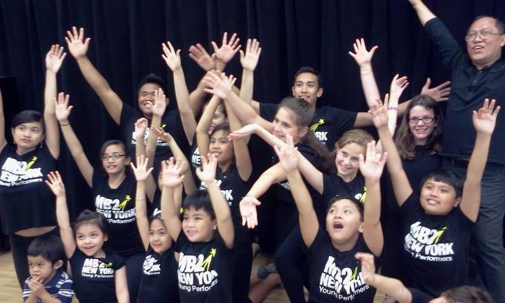 Miguel with the students of MB2NY, courtesy of Miguel Braganza II