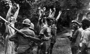 Dutch captured by Japanese soldiers